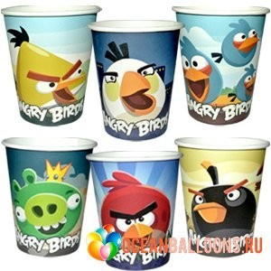 Стакан ANGRY BIRDS 8 штук.